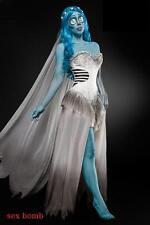SEXY halloween costume SPOSA FANTASMA taglia XS,S,M,L,XL,2XL abito,velo,parrucca