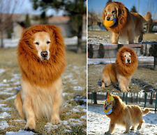 US Furry Pet Hat Costume Lion Mane Wig with Ears for Dog Cat Fancy Dress up-L
