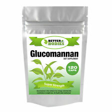 120 Glucomannan Max Konjac Fibre Diet Weight Loss Supplement Pills strong Diet