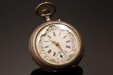 Remontoir Cylinder 6 Rubis Antique Silver Pocket Watch