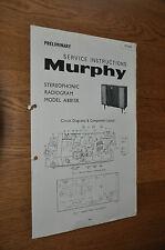 Murphy radiogram A881SR Vintage Service Manual A881