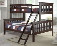 TWIN over FULL BUNK BED-Cappuccino bunkbeds beds
