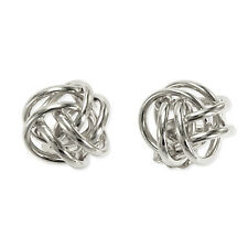 Gorgeous 14k Solid White Gold Love Knot Studs earrings 10mm Wide 1.30 grams E935