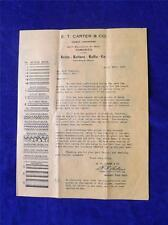 E.T. CARTER FURNITURE FRAME PRICE LIST ADVERTISING FLYER 1925 TORONTO ONTARIO