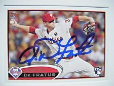JUSTIN De FRACTUS signed PHILLIES 2012 Topps baseball card AUTO Autographed #243
