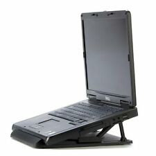 Universal Portable Laptop Desk Swival Stand Cooling Pad Heat dispation Black