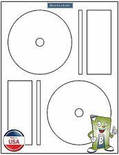 1000 CD / DVD Laser and Ink Jet Labels - Full Face Memorex Size!  500 Sheets!