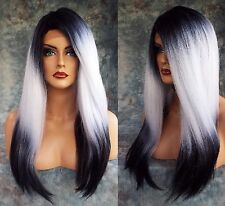 Lace Front Wig LONG SRAIGHT HEAT SAFE COLOR ✯3T1B.WHT✯ SEXY FAST USA SELLER 343