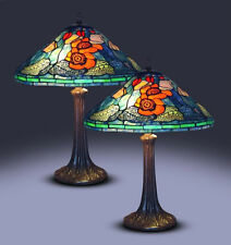 New Tiffany Style Water Lily lamp set  Stained Glass Tiffany style lighting