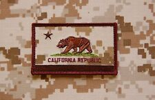 AOR1 California State Flag Patch NSW Navy SEAL Afghanistan DEVGRU CA VELCRO®