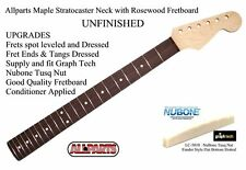 New Allparts UPGRADED UNFINISHED Stratocaster Strat Maple Neck