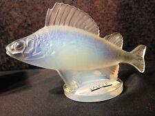 Lalique Opalescent Perch Fish With Box SUPER RARE
