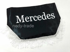 MERCEDES Window Shield Pelmet Curtains Windscreen Truck Lorry Logo Emblem Black