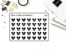 1402~~Disney Vacation Countdown Mickey Mouse Planner Stickers.