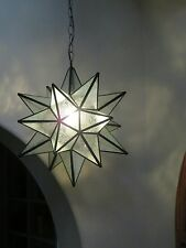 "Moravian Star -18"" glue chip glass  18 point"