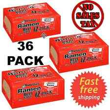 Maruchan Ramen Noodle Soup Beef Flavor 3 oz Pack of 36 - FREE FAST SHIPPING