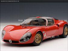 1:18 Autoart 70191 ALFA ROMEO 33 stradale prototype 1967 Rosso Nuovo & Scatola Originale Rarità