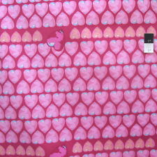 Tina Givens PWTG176 Feather Flock Heart Candy Fuchsia Cotton Fabric By Yd