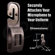 Tactical Mic Klip (TMK) Shoulder Microphone Holder Clip for Police EMT Fire TSA