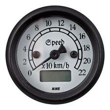 MMB Ultra Mini Électronique Compte-tours Classic Noir Blanc Harley - Davidson
