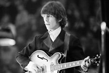 GEORGE HARRISON 24X36 POSTER 1960'S THE BEATLES ON STAGE PLAYING GUITAR ICONIC
