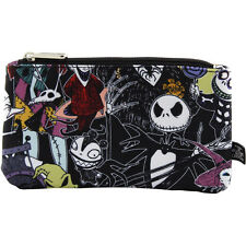 Disney Store Nightmare Before Christmas Character Coin/Cosmetic Bag Collage
