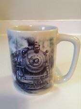 VTG Otagiri Japan Train Locomotive Railroad Sunrise Pub. Inc. Mug Coffee Tea Cup