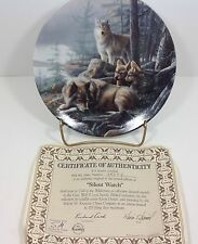 Call of the Wilderness Silent Watch Bradford Exchange Plate 3rd in series