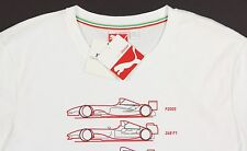 Men's PUMA FERRARI White Race Car Logo T-Shirt Tee Shirt Small S NWT NEW