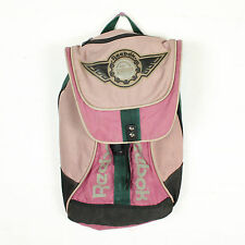 VINTAGE RETRO REEBOK RUCKSACK BACKPACK FADED PINK GREEN CANVAS BAG