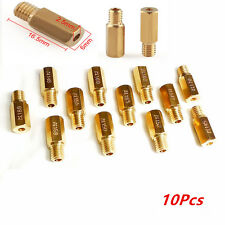 10Pcs Gold  Main Jets for Keihin OKO KOSO PE PWK Carburetor Choose from 80 -200