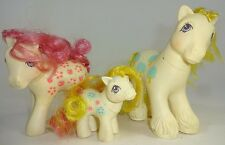 My Little Pony MLP Loving Family APPLE DELIGHT Mommy Daddy Baby Vintage 80s Lot