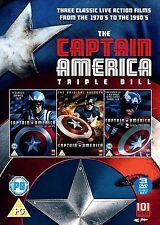 CAPTAIN AMERICA  1/2/3   1990   TRIPLE BOX SET        UK DVD   NEW/SEALED