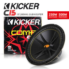 "NEW PAIR x 2 KICKER C15 15"" Dual 4 Ohm CompVR Series Subwoofer"