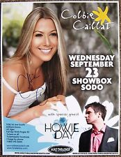 Signed COLBIE CAILLAT Gig POSTER In-Person  w/proof Concert Autograph