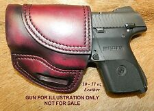 """Gary C's Avenger OWB """"XH"""" Left Hand HOLSTER - for the Ruger SR9C/SR40C  Leather"""