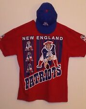 100% AUTHENTIC NEW, NEW ENGLAND PATRIOTS SHIRT/HAT, XL, RED/BLUE, MENS, NFL