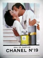 PUBLICITE-ADVERTISING :  CHANEL N°19  1990 Eau de Parfum