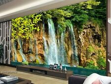 Home 3D Wallpaper Bedroom Mural Roll Modern Forest Waterfall Wall Background TV