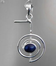 608 CHO KU REI  Reiki solid 925 sterling silver pendant with Lapis gem rrp$49.95