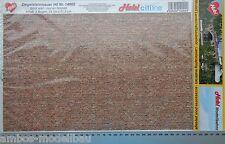 (30,78€/m²) Heki 14002 Ziegelsteinmauer, Dekorbögen, 3 Stück je 34 x 21,5 cm