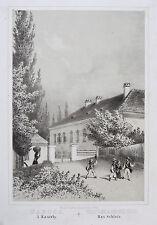 Original Lithografie mit Tonplatte Bad Tatzmannsdorf Schloss Burgenland; um 1860