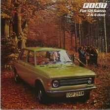 Fiat 128 1100 Saloon 2 door & 4 door 1975-76 original UK Sales Brochure