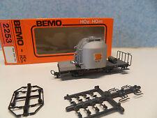 HH28) wagon citerne BEMO 2253 train electrique HOe - HOm voie etroite
