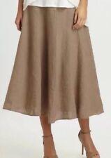 1X $248 Eileen Fisher Driftwood Handkerchief Linen Flared A Line Skirt wTies New