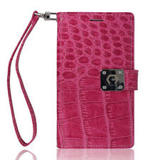 7 Card Pocket Double Leather wallet Book Flip Case Cover For iPhone Samsung LG