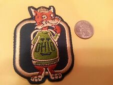 """UO University of Ohio Bobcats Vintage Embroidered Iron On Patch 3"""" x 3.5"""" NCAA"""