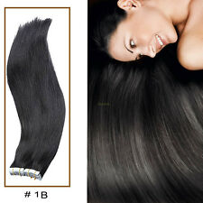 Tape In Real 100% Remy Human Hair Extensions Black Brown Seamless US HOT HQ004