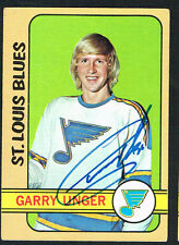 Garry Unger #35 signed autograph auto 1972-73 Topps Hockey Trading Card