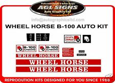 WHEEL HORSE B-100 AUTOMATIC TRACTOR DECAL SET, reprocduction